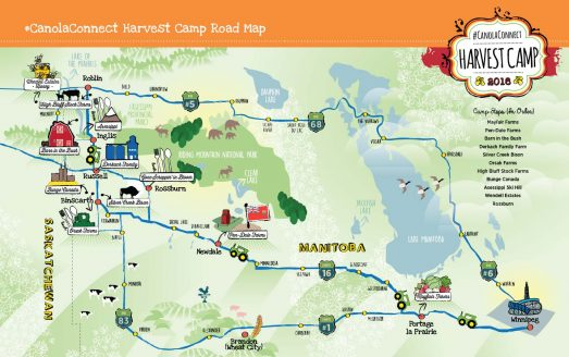 CanolaConnect Harvest Camp Road Map