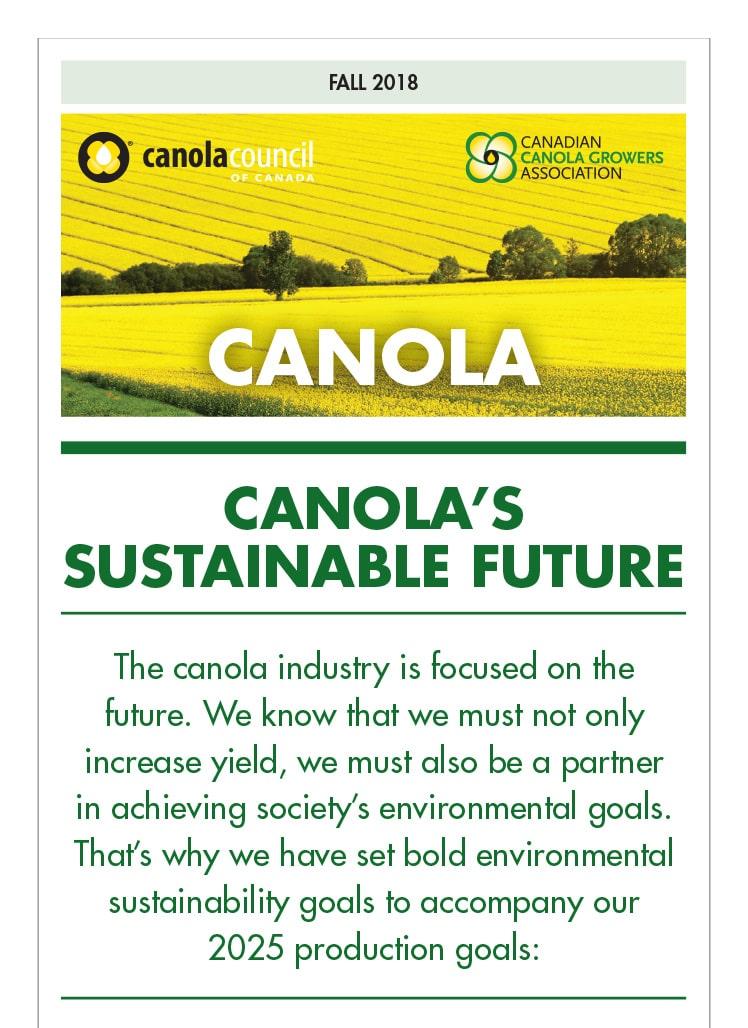 Canola's Sustainable Future