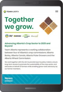 Team Alberta Crops website
