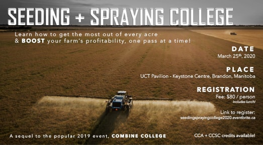 Seeding + Spraying College: March 25, 2020